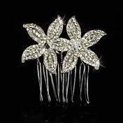 el estilo elegante del casco de las flores de los peines del pelo de la aleación de la plata esterlina