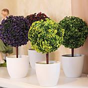 Gren Plastikk Planter Bordblomst Kunstige blomster 26 x 13 x 13(10.24'' x 5.12'' x 5.12'')