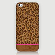 patrón del grano del leopardo del teléfono cubierta trasera del caso para iphone5c