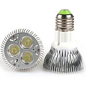 6W 300-350lm E26 / E27 LED PAR-lamper PAR20 3 LED perler Høyeffekts-LED Varm hvit / Kjølig hvit 100-240V / 85-265V