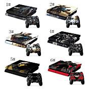 personajes de dibujos animados diseños adhesivo vinly para PS4& 2 controlador despelleja pegatinas PS4