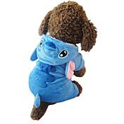 Gato Perro Disfraces Saco y Capucha Pijamas Ropa para Perro Bonito Cosplay Caricaturas Azul Disfraz Para mascotas