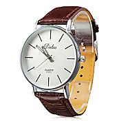Hombre Reloj de Pulsera Japonés Reloj Casual PU Banda Casual / Minimalista Negro / Blanco / Rojo