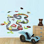 Caricatura Transporte Pegatinas de pared Calcomanías de Aviones para Pared Calcomanías Decorativas de Pared Material Lavable Puede