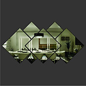 Formas Pegatinas de pared Adhesivos de Pared Espejo Calcomanías Decorativas de Pared Material Removible Decoración hogareña Vinilos