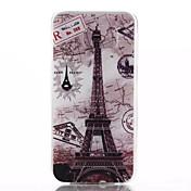 Para Funda Samsung Galaxy Carcasa Funda En Relieve Cubierta Trasera Funda Torre Eiffel TPU para Samsung S6 edge