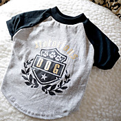 Verano - Gris Algodón - Camiseta - Perros - XS / S / M / L