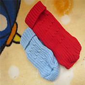 Perro Suéteres Ropa para Perro Sólido Rojo Azul Disfraz Para mascotas