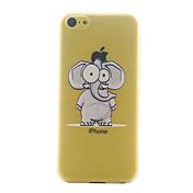아이폰 5C 하드 다시 커버 케이스 초박형 만화 코끼리 패턴