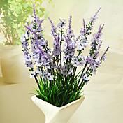 Flores Artificiales 1 Rama Estilo moderno Lavanda Flor de Mesa