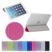 Funda Para iPad 4/3/2 con Soporte Activado / Apagado Automático Origami Funda de Cuerpo Entero Color sólido Cuero de PU para iPad 4/3/2