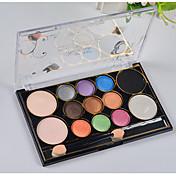 13 Paleta de Sombras de Ojos Seco / Mineral Paleta de sombra de ojos Polvo Normal Maquillaje de Diario / Maquillaje de Fiesta