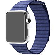 Klokkerem til Apple Watch Series 3 / 2 / 1 Apple Lærrem Ekte lær Håndleddsrem