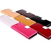 Para Funda Samsung Galaxy Soporte de Coche / Cartera / con Soporte / Flip Funda Cuerpo Entero Funda Un Color Cuero Auténtico Samsung S3