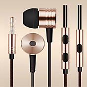 En el oido Con Cable Auriculares Aluminum Alloy Teléfono Móvil Auricular Con control de volumen / Con Micrófono / Aislamiento de ruido
