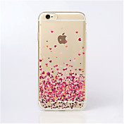 Funda Para iPhone 5 Apple Funda iPhone 5 Transparente Diseños Funda Trasera Corazón Suave TPU para iPhone SE/5s iPhone 5