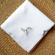 Bordado 100% algodón Cuadrado Servilleta Decoraciones de mesa 1 pcs