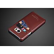 Para Samsung Galaxy Note Soporte de Coche Funda Cubierta Trasera Funda Un Color Cuero Sintético Samsung Note 5