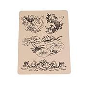 basekey peces 10pcs logo tatuaje piel falsa para la práctica del tatuaje de 15 x 20 cm