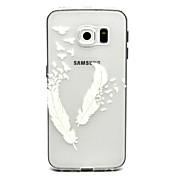 Funda Para Samsung Galaxy Funda Samsung Galaxy Transparente Funda Trasera Plumas TPU para S6 edge plus S6 edge S6 S5 Mini S5