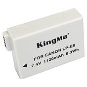 kingma lp-e8 lp e8 LPE8 batería de la cámara para Canon EOS 550d 600d 650d 700d beso T2i rebelde X7i X6i x5 x4 T4i T3i t5i