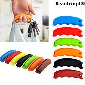 1pcs mango bolsa de la compra de silicona titular de comestibles portador de múltiples funciones con el agujero llavero (color al azar