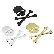 nuevas pegatinas de estilo 3d bandera pirata esqueleto de metal cráneo 3m cráneo etiqueta adhesiva motocicleta coche emblema del coche