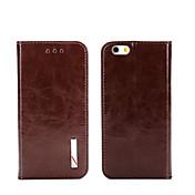 Etui Til iPhone 5 Apple iPhone 8 iPhone 8 Plus Etui iPhone 5 Kortholder Lommebok med stativ Flipp Heldekkende etui Helfarge Hard ekte lær