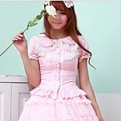 블라우스 / 셔츠 달콤한 로리타 핑크 블랙 화이트 로리타 액세서리 에 대한 FRP