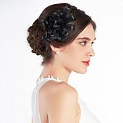 tul de novia de la boda bonita flor negro / ramillete / casco