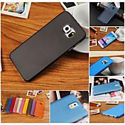 Funda Para Samsung Galaxy Funda Samsung Galaxy Ultrafina Funda Trasera Color sólido ordenador personal para S6 edge plus S6 edge S6 S5
