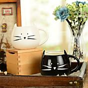 """300ml svart og hvitt søt kattdyrkopper kreativt vannkrem (5.1 """"x4.3"""" x3.7 """")"""
