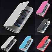 Etui Til iPhone 5 Apple Etui iPhone 5 Flipp Matt Magnetisk Heldekkende etui Helfarge Hard PU Leather til iPhone SE/5s iPhone 5