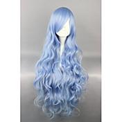 Pelucas Lolita Amaloli Azul Piscina Elegant Peluca de Lolita  90 CM Pelucas de Cosplay Un Color Pelucas Para