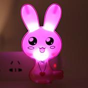 에너지 절약 주도 만화 토끼 빛 작동 모드 야간 조명 램프