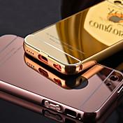 estructura de metal chapado de lujo añade caso cáscara del teléfono cubierta de acrílico transparente para 5c iphone (colores surtidos)