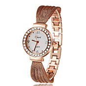 Mujer Reloj de Moda Moda PU Banda Casual Plata / Dorado / Oro Rosa