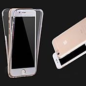 Funda Para Apple iPhone X iPhone 8 iPhone 8 Plus iPhone 6 iPhone 6 Plus Transparente Funda de Cuerpo Entero Color sólido Suave TPU para