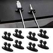 accesorios para el interior multifuncional adhesivo línea de carga para el vehículo abrazadera de cierre de clip coche cable de los