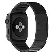시계 밴드 Apple Watch Series 3 / 2 / 1 Apple Watch Series 3 용 Apple 나비 버클 스테인레스 스틸 손목 스트랩