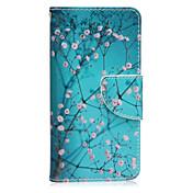 Etui Til Samsung Galaxy Samsung Galaxy Etui Kortholder med stativ Flipp Magnetisk Mønster Heldekkende etui Blomsternål i krystall PU