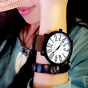 Mujer Reloj de Moda Cuarzo Reloj Casual Piel Banda Elegant Negro Marrón