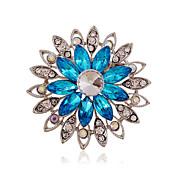Mujer Acrílico Brillante Cerámica La imitación de diamante Legierung Moda Morado Café Azul Joyas Boda Fiesta Diario