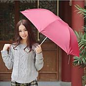 paraguas plegable UV protección paraguas del color del turismo al azar