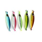 """5pcs pcs Cebos Señuelos duros Cebo metálico Colores Aleatorios g/Onza,88 mm/3-1/2"""" pulgada,Plomo MetalPesca de Mar Pesca al spinning"""