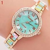Mujer Reloj de Moda Simulado Diamante Reloj Cuarzo Aleación Banda Múltiples Colores # 6 # 7 # 8 # 9 # 10