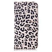 Para Samsung Galaxy S7 Edge Cartera / Soporte de Coche / con Soporte / Flip Funda Cuerpo Entero Funda Estampado Leopardo Cuero Sintético