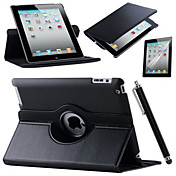 Etui Til Apple iPad Mini 3/2/1 iPad 4/3/2 iPad Air 2 iPad Air med stativ Origami 360° rotasjon Heldekkende etui Helfarge Hard PU Leather