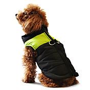 Perro Abrigos Chaleco Chaquetas de Plumón Ropa para Perro Bloques Amarillo Rojo Negro/Rosa Negro/Verde Negro y Azul Algodón Disfraz Para