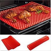 bandeja de horno horno pirámide rojo cacerola para hornear de silicona antiadherente estera estera de molde de cocción